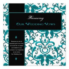 Renewing Wedding Vows -Invitations/ Embellishments