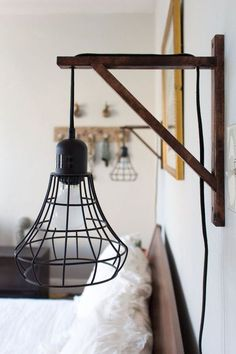 DIY Sconce Lights   Decorating Your Small Space