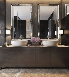 nice Three Luxurious Apartments With Dark Modern Interiors - FeedPuzzle by http://www.tophome-decorations.xyz/bathroom-designs/three-luxurious-apartments-with-dark-modern-interiors-feedpuzzle/