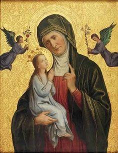Religious Images, Religious Art, Italian Paintings, St Anne, Saint Jean, Western Art, Virgin Mary, Cherub, Old World