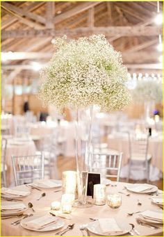 24 ideas for table runners wedding on summer runners table 20 nice ways to use babys breath for wedding junglespirit Image collections