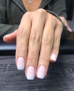 Ombré is hands down The Most Wanted Nail Color . Ombré is hands down The Most Wanted Nail Color 😍 SNS Milky Nails, Short Nails, Short Natural Nails, Gel On Natural Nails, Natural Manicure, Natural Nail Art, Natural Nail Designs, Long Nails, Summer Nail Art