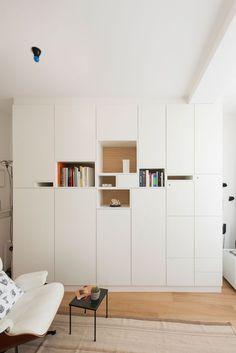 """© Design Filip Janssens, all rights reserved Home Office Design, Interior Design Kitchen, Home Furniture, Furniture Design, Urban Decor, Shelf Design, Wall Storage, Home And Living, Room Inspiration"