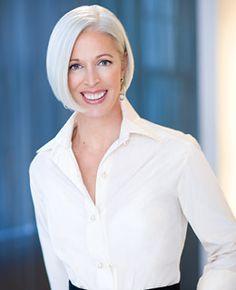 Linda Fargo, Senior VP of Fashion at Bergdorf Goodman, wears  a sleek, chin-length bob.