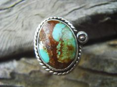 Turquoise ring in sterling silver by Billyrebs on Etsy, $49.00