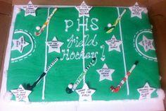Field hockey Hockey Cakes, Field Hockey, Cupcake Cookies, Treats, Sweet Like Candy, Goodies, Hockey, Snacks, Sweets