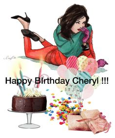 """Happy Birthday Cheryl !"" by beleev ❤ liked on Polyvore featuring art"