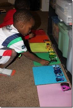 color sorting with cars