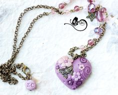 heart necklace /made to order