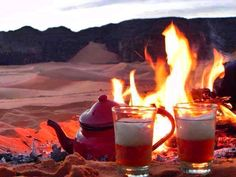 drinking tea in Libya