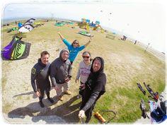 Ostersonntag mit den Amici beim #kiteboarden in #Italien