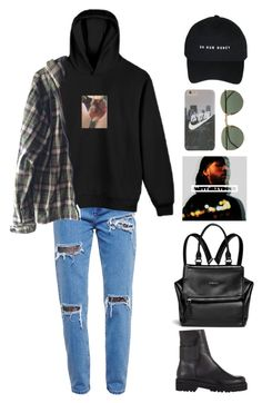 """almost there"" by mikaylaperrine ❤ liked on Polyvore featuring House of Holland, Burkman Bros., Ray-Ban, MM6 Maison Margiela and Givenchy"