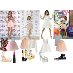 Violetta / Martina Stoessel style by dedice on Polyvore featuring polyvore, fashion, style, Mary Katrantzou, Chicwish, rag & bone, Jimmy Choo, Betsey Johnson, Converse and Chanel
