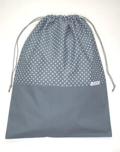 Travel Laundry bag BlueGrey White Stars by HiromiParis on Etsy, €22.00