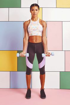 30 Day Arm Fitness Challenge - Hand Weight Workout | With nothing but hand weights, this 30-day fitness challenge will transform and strengthen your arms. #refinery29 http://www.refinery29.com/30-day-arm-workout-challenge