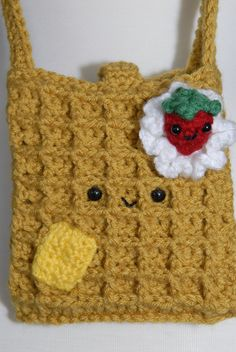 Yummy Waffle Crochet Hip Purse - From Gitana's Yummies New Collection