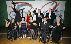 Some of the winners celebrating at the Wheelpower British Wheelchair Sports Awards at Stoke Mandeville. #joyofsport http://www.telegraph.co.uk/sport/olympics/paralympic-sport/6693155/Wheelchair-Sports-Awards-2009-outstanding-achievements-of-2009-celebrated.html