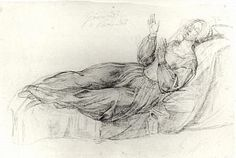 Woman on Couch, Dante Gabriel Rossetti, 1850-1860, Rossetti Archive