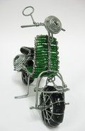 Motorbike South African Art, Wire Crafts, Wire Art, Bead Art, Plant Hanger, String Crafts