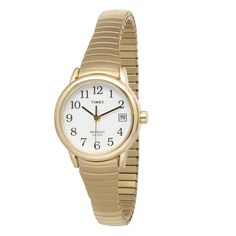 Timex Women's T2H351 Easy Reader Gold-Tone Stainless Steel Expansion Band Watch