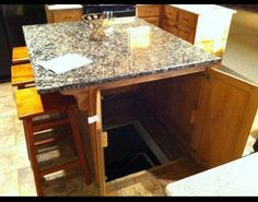 Easy access storm shelter/wine cellar/basement storage... Oh, and its pretty!