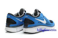 buy online 31fa7 cfb7c Billig Herren Schuhe Nike Free Run + (Farbe Vamp-blau,grau,innen-grau,Logo, Sohle-weiB) Online in Deutschland.