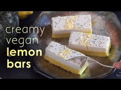 Ginger Turmeric Lemon Cream Bars Recipe