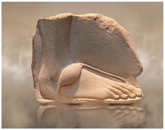 Ancient Egyptian relief study of a foot. 18th Dynasty 1345 BC .    © Paul E Williams 2013