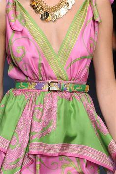 Sfilate D Collezioni Primavera- Pink and green