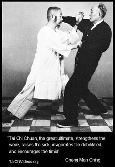 This is a good quote from chen man ching on the practice of tai chi chuan: