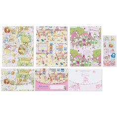 Sanrio Characters Letter Set Wrapping Paper Hello Kitty My Melody Lts Kikilala | eBay