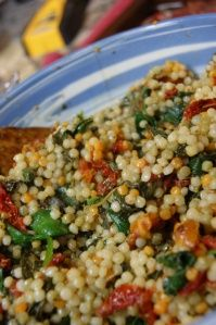 Basil Pesto Couscous- my little guy is always asking me to make couscous, so I may give this a try.