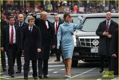 VIDEO: Donald Trump Walks in Inaugural Parade With Melania & Barron ...