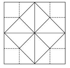Fortune Teller Paper Origami Templatepaper
