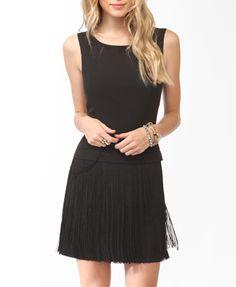 Fringed V Back Dress   FOREVER 21 - 2000047609