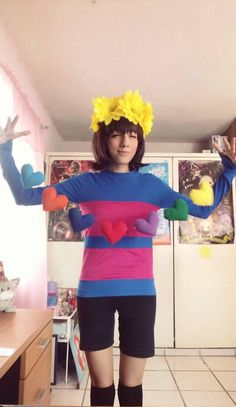 Frisk cosplay by Thetruffulacupcake