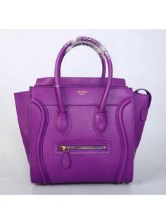 Celine Luggage Purple Small Handbag 26CM