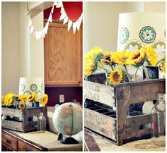 the table the globe the flowers in the cart Interior Decorating, Decorating Ideas, Interior Design, Sideboard Decor, Map Globe, Boutique Design, Inspired Homes, Globes, Nursery Ideas