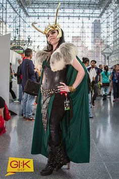 Loki at New York Comic-Con 2013 Cosplay Outfits, Cosplay Ideas, Cosplay Costumes, Lady Loki Cosplay, Best Cosplay, Black Panther, Geek Stuff, Marvel, York