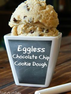 Eggless Chocolate Chip Cookie Dough | Perfect for those days where youre craving just the dough #cookiedough sweetasacookie.com