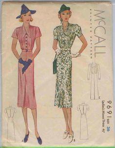 McCall 9691 | 1938 Ladies' & Misses' Dress