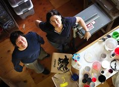 """Kim and Kelley Deal turn 50 today. The twins have quite a cake helping them celebrate the occasion: (via Kelley, notes, """"I'm the one on the Happy 50th, Kim Deal, Twins, Pixies, People, Gemini, People Illustration, Twin, Folk"""