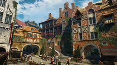 The Kingfisher Inn The Witcher, Minecraft Welten, Viking Battle, Warhammer Fantasy Roleplay, Fantasy Village, Dungeons And Dragons Game, Harbor City, Minecraft City, Fantasy Concept Art