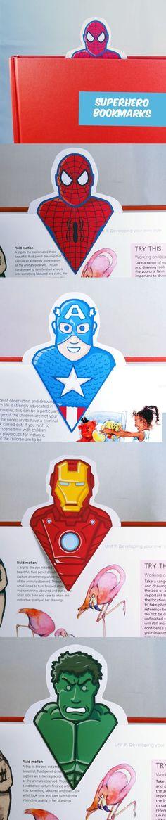 FREE printable super hero bookmarks