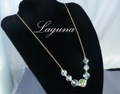 1960s LAGUNA Aurora Borealis (AB) Crystal & Gold Chain Chokers / Necklaces by MarlosMarvelousFinds, $12.00 ~ Several Available!