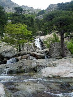 Les cascades de Bavella , dans les hauteurs entre Conca et Solenzara. Beautiful Sites, Beautiful Places, Corsica Travel, Les Cascades, Imagines, Travel Alone, France Travel, Amazing Destinations, Natural Wonders