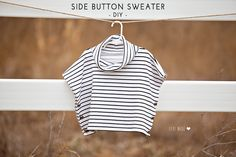 Side Button Sweater DIY