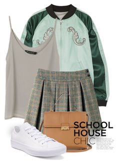 """""""White Sneakers 2087"""" by boxthoughts ❤ liked on Polyvore featuring Opening Ceremony, Lanvin and Converse"""