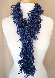 Necklace Scarf Hairpin Lace Navy Blues