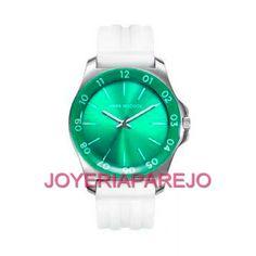 Reloj Mark Maddox Mujer MP7001-64 Verde correa blanca